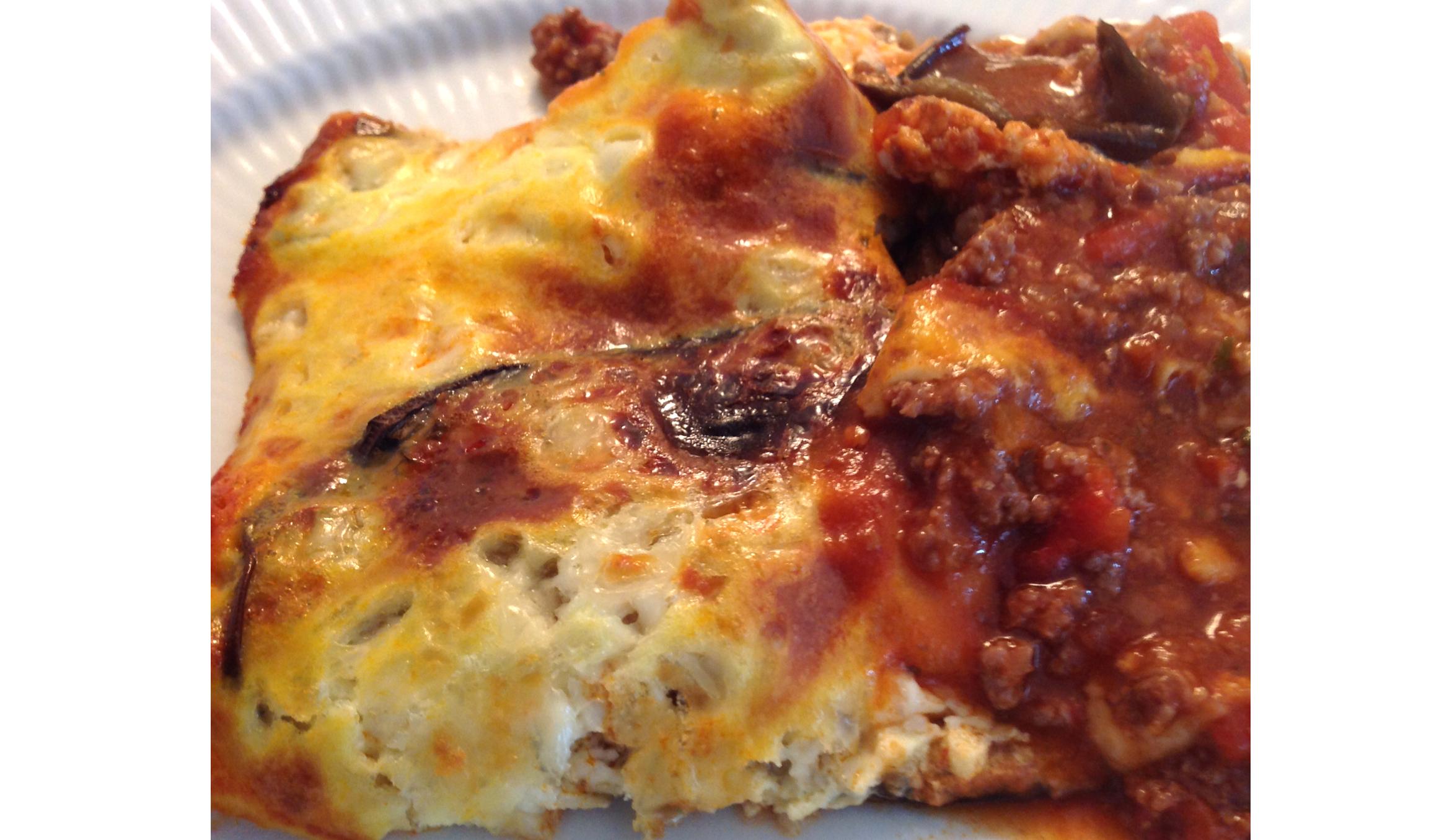 Low carb moussaka med squash og auberginer
