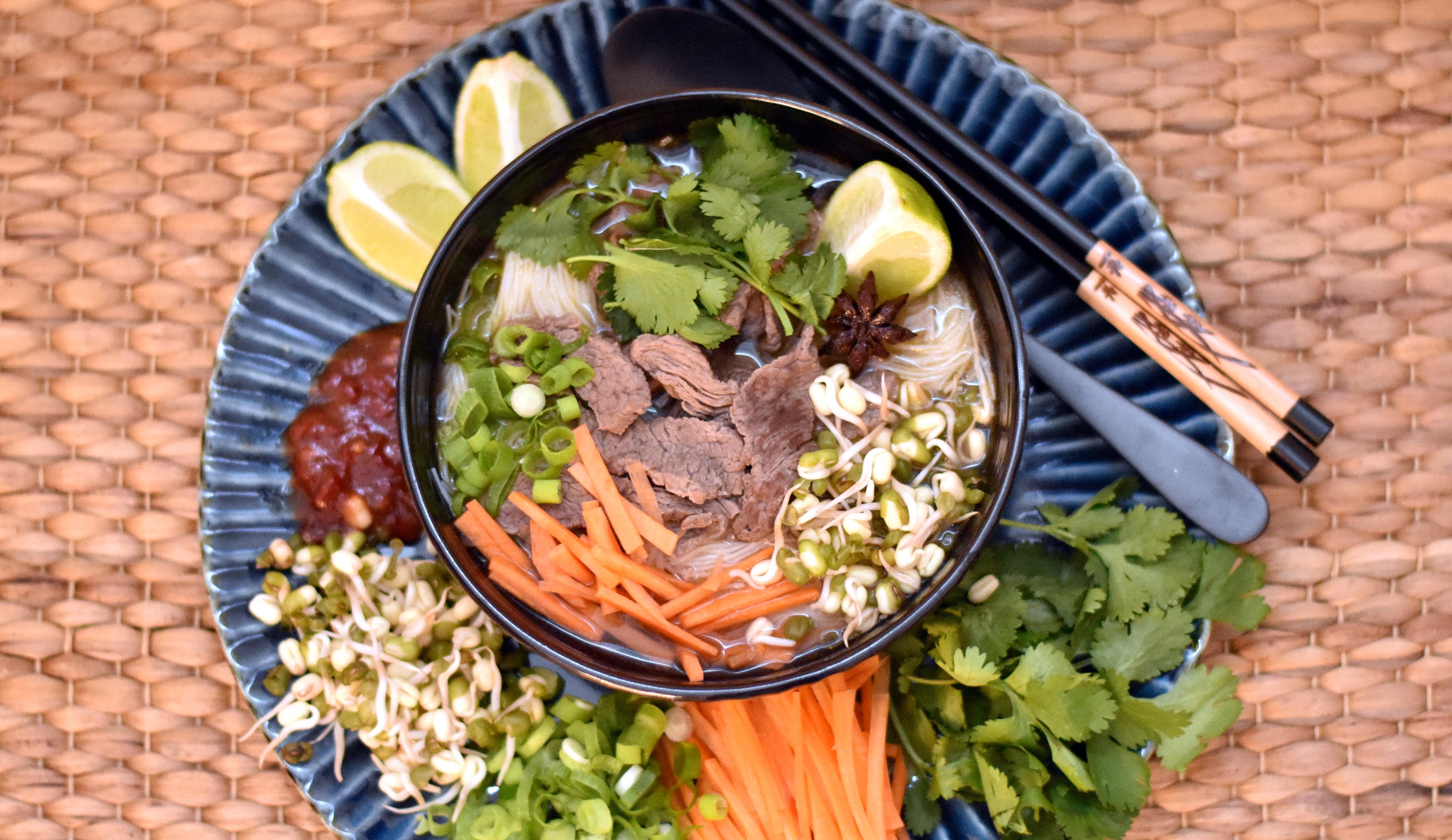 Pho - asiatisk suppe med oksekød