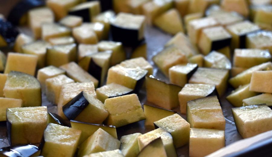 Aubergine-quinoagryde
