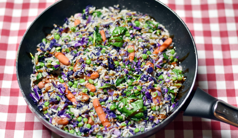 Vegetarisk stegte ris