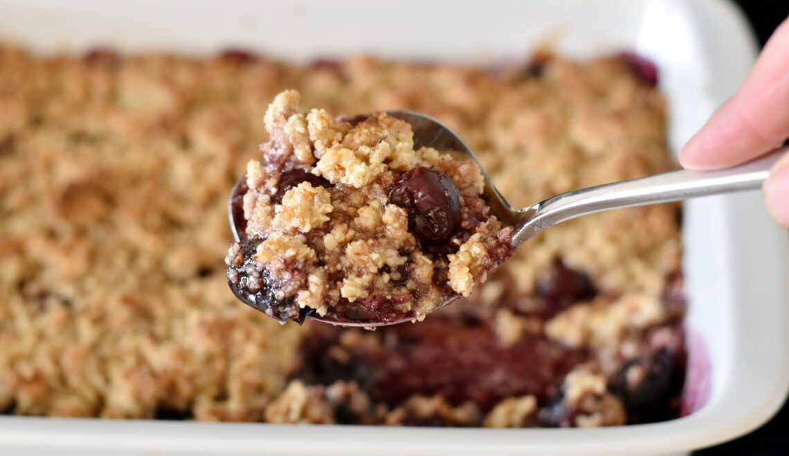 Lun crumble med frugt