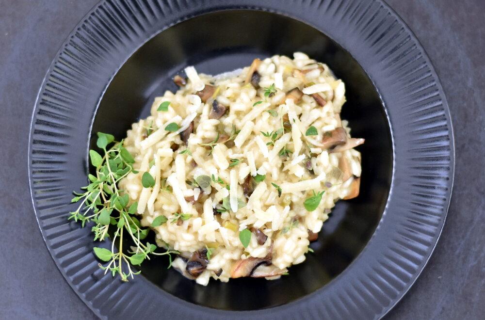 Cremet risotto med champignon
