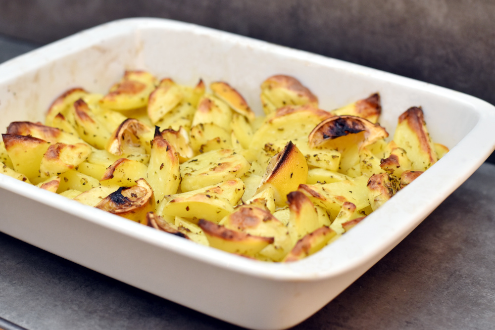 Kartofler bagt med citron og oregano
