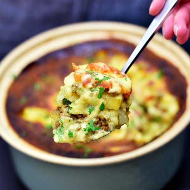 Kartoffelfad med oksekød