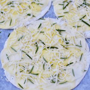 Tortillapizza med kartofler