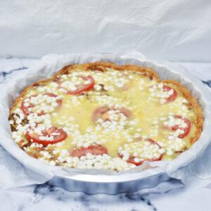 Tærte med pasta og kødsovs