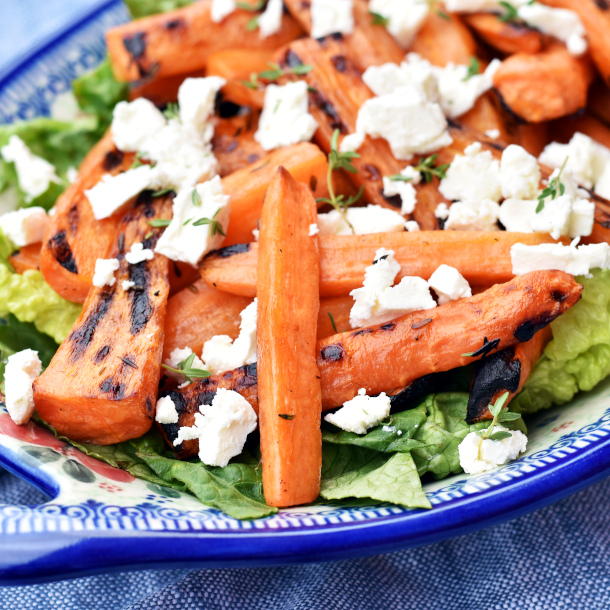 Grillede gulerødder